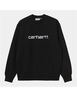 E21 CARHARTT SWEAT BLACK WHITE
